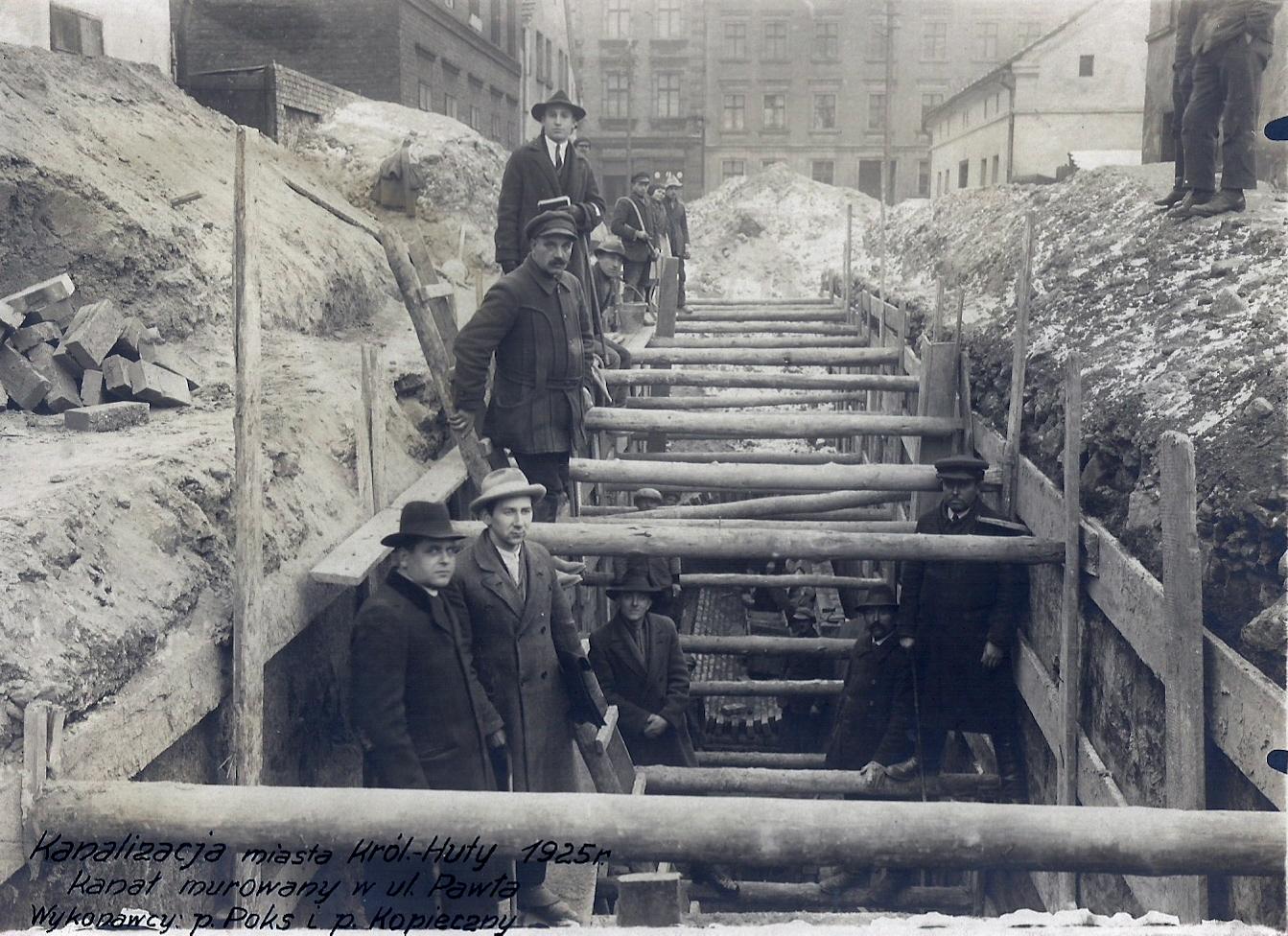 Kanalizacja Królewska Huta 1925 r. - ul. Pawła