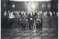 Posiedzenie Rady Miejskiej Królewskiej Huty z udziałem wojska
